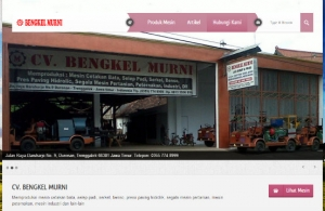 Launching Web CV. Bengkel Murni
